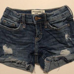 Jean shorts 5/6 kids Abercrombie kids